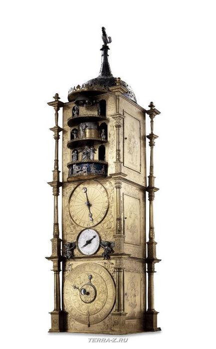 Уникальные механические стационарные часы. Франция, Страсбург, 1589