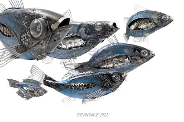 Металоломные зверюшки от Edouard Martinet