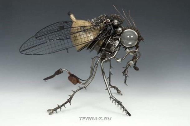 Скульптуры из автомобильного металлолома от James Corbett