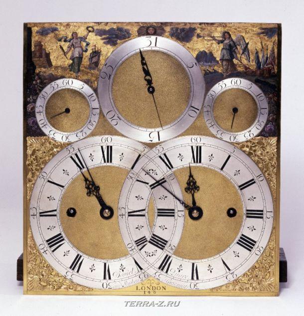 Уникальные механические стационарные часы. Лондон, 1710-1715