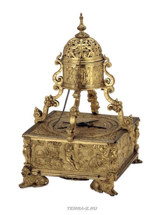 Уникальные механические стационарные часы. Германия, 1575-1585