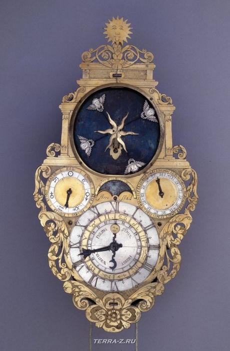 Уникальные механические стационарные часы. Германия, 1625-1635