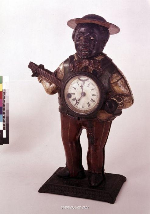 Уникальные механические стационарные часы. США, 1870-1880