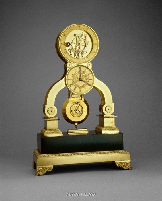 Уникальные механические стационарные часы. Англия, 1855-1865
