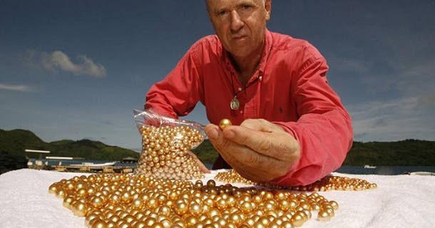Ферма по выращиванию золотых жемчужин (Филиппины)