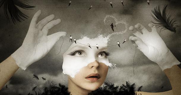 Женщина в фото-арте Кати Рашкевич