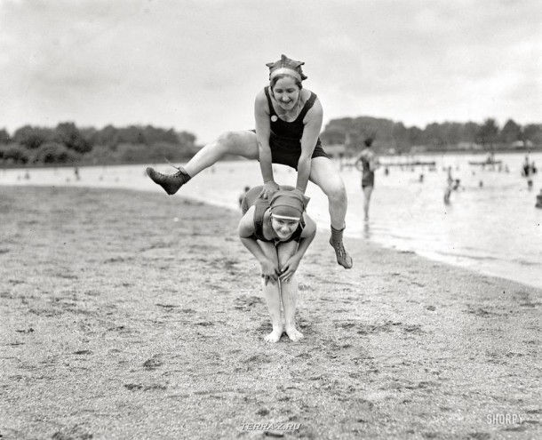 """Вашингтон, округ Колумбия. """"Пляж Потомак, 1921 год"""""""