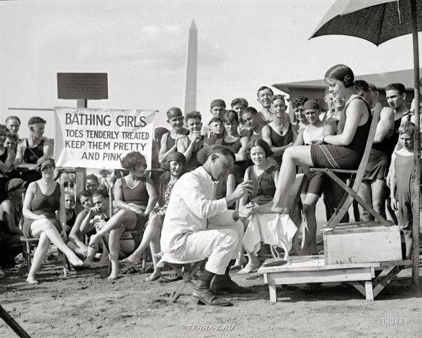 """16 августа 1922. Вашингтон, округ Колумбия. """"Доктор для пальцев ног"""""""