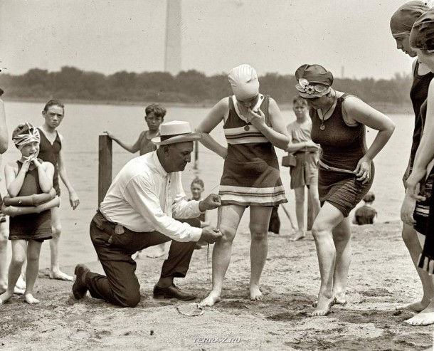Пляж 100 лет назад