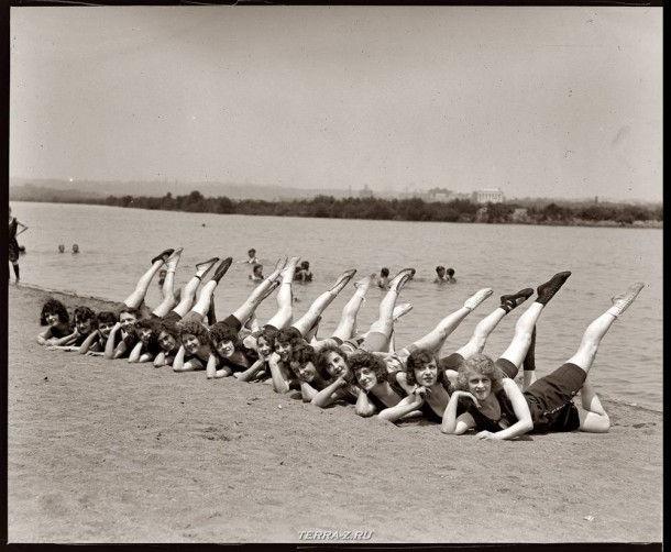 """Sunshine Girls"" из Вашингтона, округ Колумбия, 19 июля 1923"