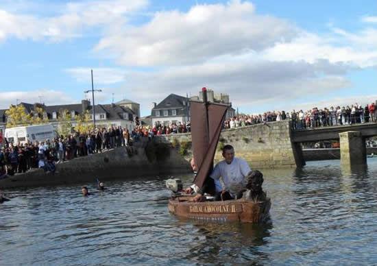 Шоколадная лодка от George Larnicol (Франция)