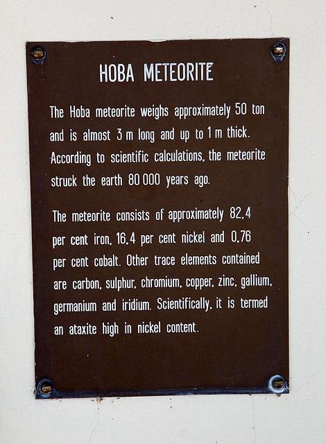 Гоба - крупнейший из найденных метеоритов