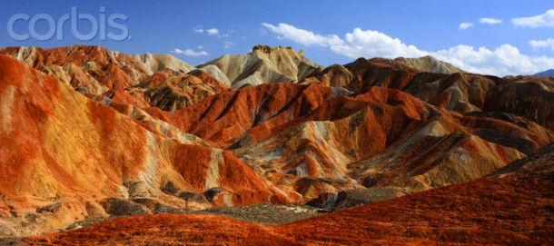 Красные горы Zhangye (Китай)