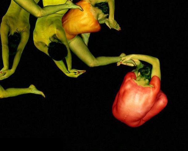 Цветы из людей от Cecelia Webber (Сесилия Уэббер)