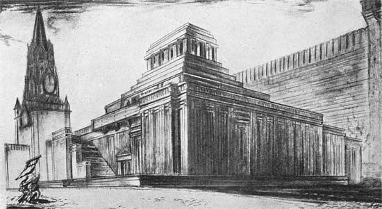Эскиз второго деревянного мавзолея