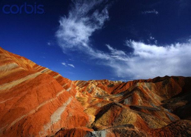 Красные горы геологического парка Zhangye (Китай)