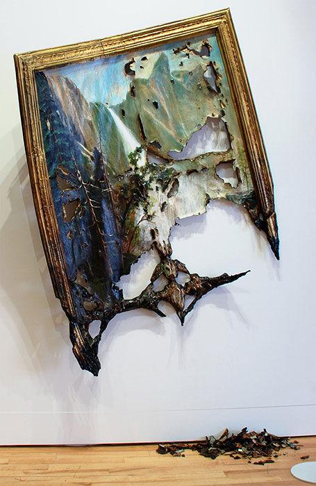 Искусство разрушать холсты от Valerie Hegarty (Валери Хегарти)