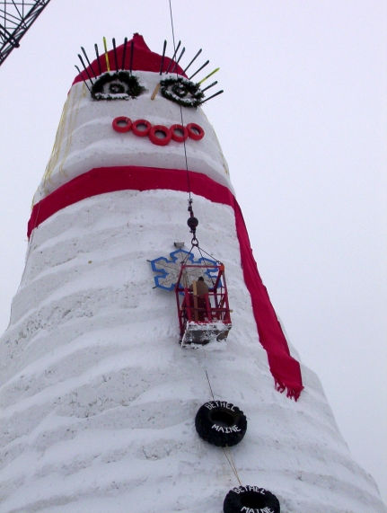 """""""Olympia SnowWoman"""" - самый большой снеговик в мире"""