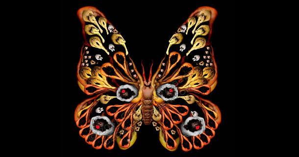 Цветы и бабочки из людей от Cecelia Webber