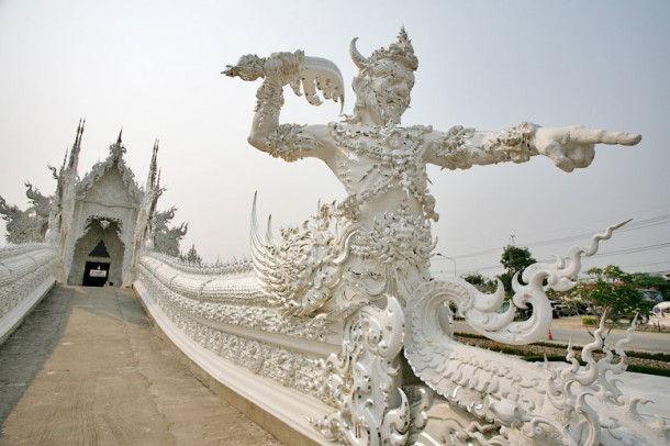 Wat Rong Khun - Белый храм (Ban Rong Khun, Таиланд)