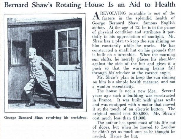 Бернард Шоу и дом-вертушка (1929 год)