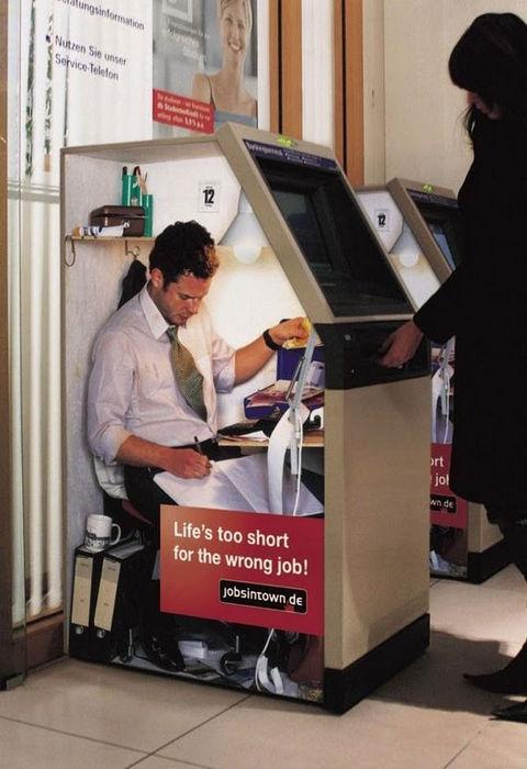"""Социальная реклама """"Жизнь слишком коротка для плохой работы"""""""