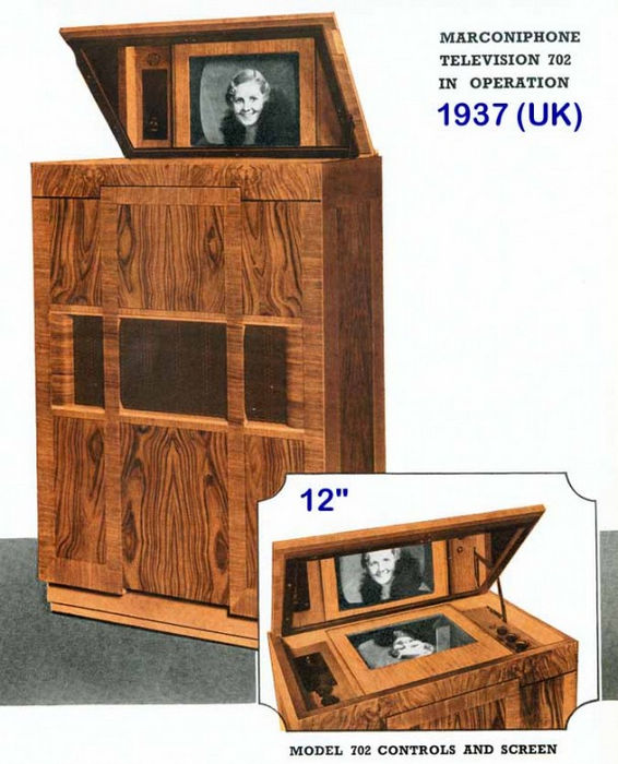 """Marconi type 702"" - самый старый работающий телевизор (Англия, 1936)"