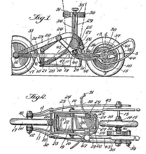 Педальные роликовые коньки из 1913 года (США)