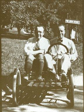 Stephen-Foster-Briggs-and-Harold-Meade-Stratton-driving-one-of-their-own-Flyers