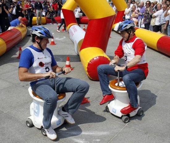 Гонки на моторизированных унитазах (Австрия)
