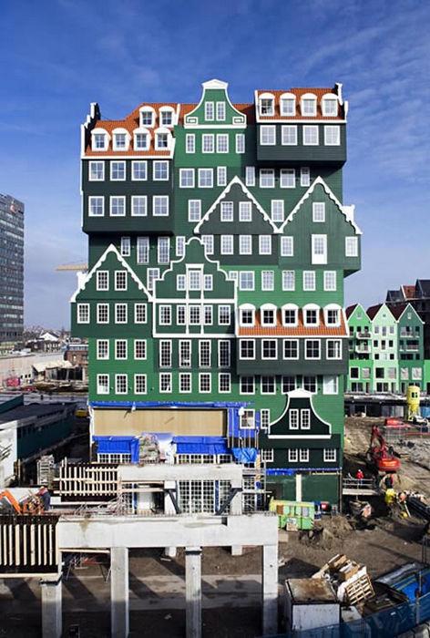 """""""Inntel Hotel"""" – много домиков в одном доме (Голландия)"""