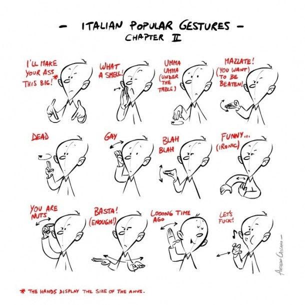 Путеводитель по итальянским жестам