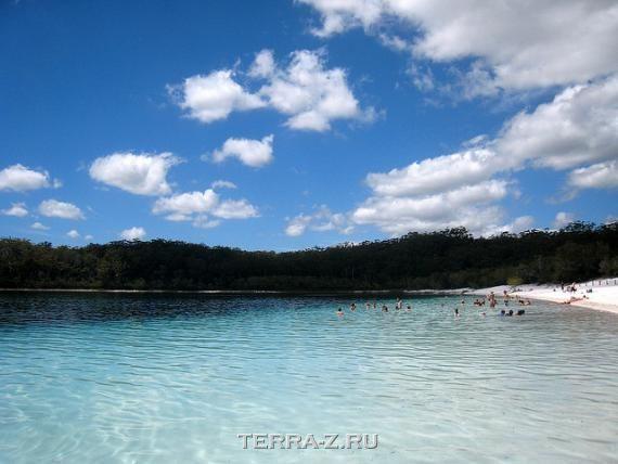 Маккензи - самое чистое озеро на Земле (Австралия)