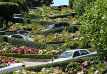 Lombard Street - самая кривая улица мира (США)