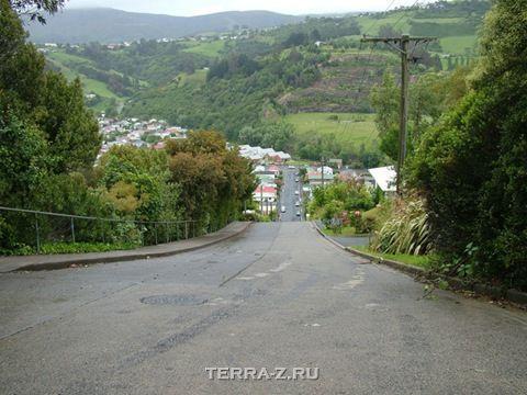 Baldwin Street – самая крутая улица (Данедин, Новая Зеландия)