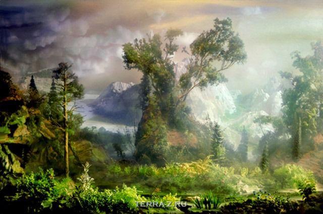 Аквариумные пейзажи Кима Кивера (Kim Keever)