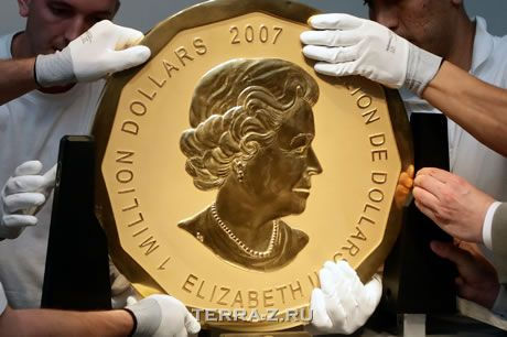Самая тяжелая и дорогая монета (Канада)