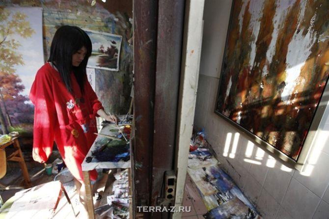 Деревня Дафен: где поддельное искусство становится бизнесом (Китай)