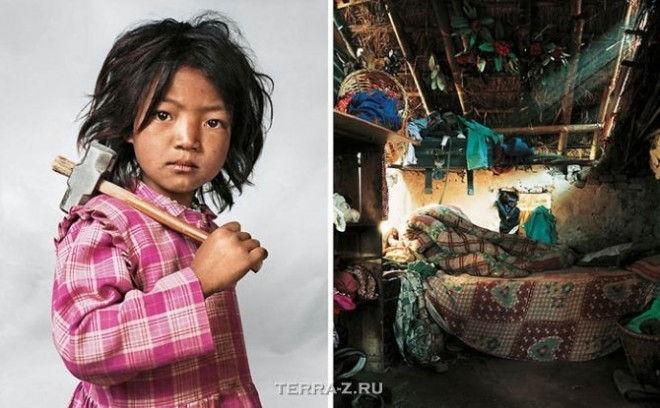 Индира, 7, живет с родителями, братом и сестрой в Катманду в Непале
