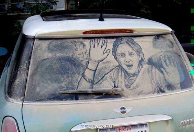 Шедевры на автомобильных окнах от СкоттаУэйда (Scott Wade)