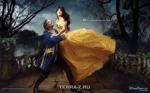 Jeff Bridges as The Beast, Penelope Cruz as Belle
