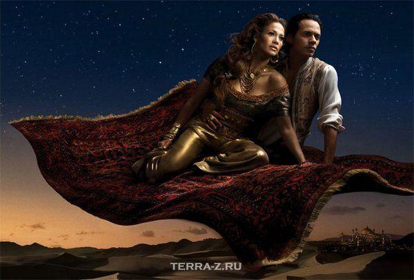 Jennifer Lopez & Marc Anthony as Jasmine & Aladdin