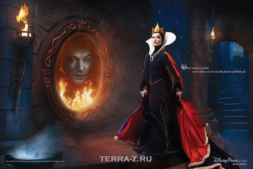 Olivia Wilde as the Evil Queen, Alec Baldwin as the Mirror