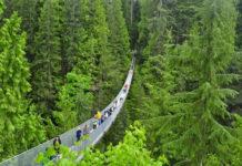 Капилано - самый длинный подвесной мост (Канада)