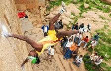 Альпинист-акробат Джоти Рай (Индия)