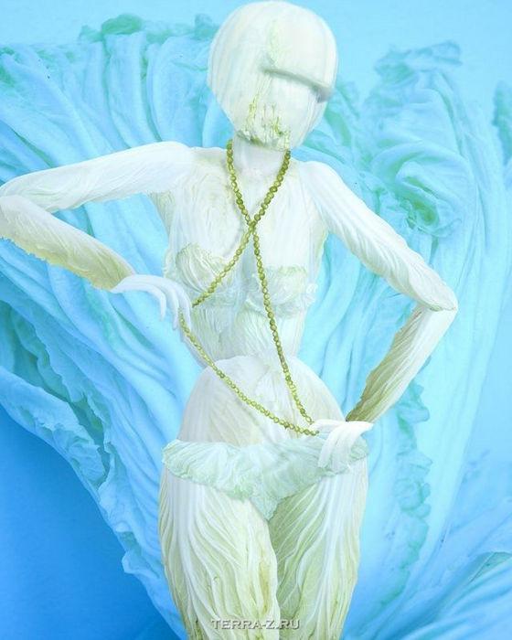 Капустные скульптуры Ю Дуоки (Ju Duoqi)