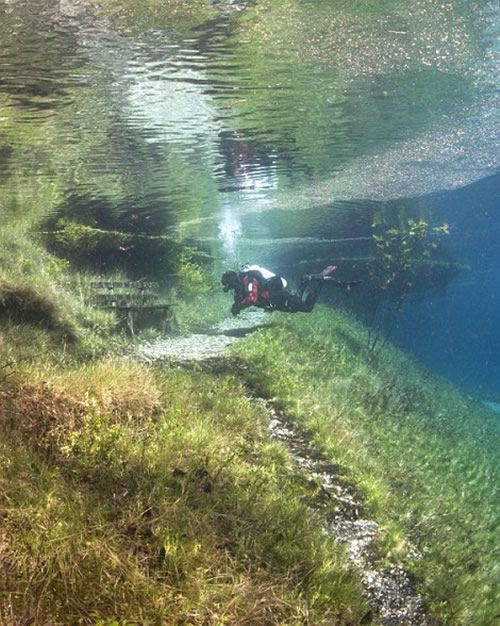 Зеленое озеро - природный феномен Альп (Австрия)