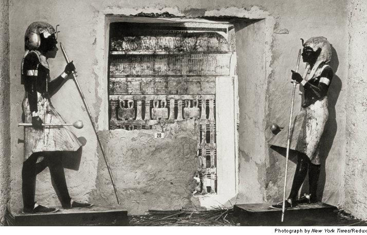 Первые фотографии гробницы Тутанхамона (Египет)
