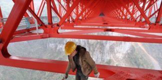 """""""Айчжай"""" - самый длинный подвесной мост в мире (Китай)"""