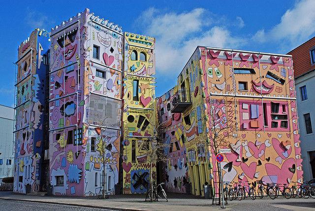 Дом Счастливый Рицци: необычный, яркий, красочный  (Германия)